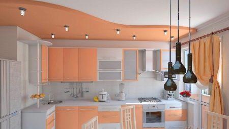 Колір стелі на кухні (53 фото): стелі червоного, сірого, жовтого та інших квітів. Який колір краще вибрати?