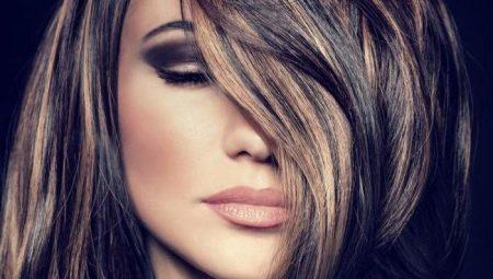 Колорування на чорні волосся (32 фото): фарбування волосся середньої та короткої довжини червоним, білим і іншими квітами. Як пофарбувати довге волосся?