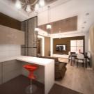 kuhnya stud ya 20 kv m 50 foto var anti dizaynu sum schenih k mnat ploscheyu 20 kvadrat v v kvartir 3 - Кухня-студія 20 кв. м (50 фото): варіанти дизайну суміщених кімнат площею 20 квадратів в квартирі