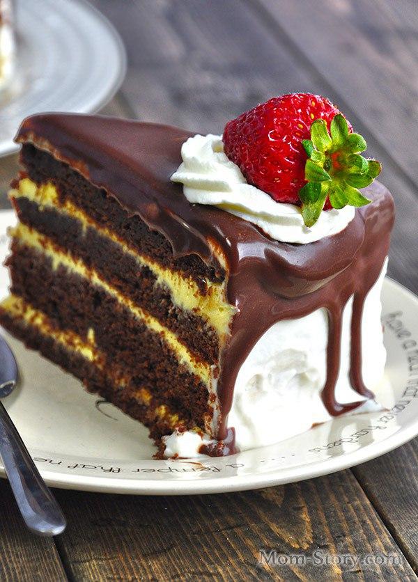 recept torta z zavarnim kremom shokoladnim gor shkami 1 - Рецепт торта з заварним кремом шоколадним і горішками