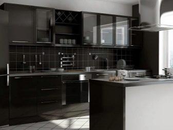 temniy fartuh dlya kuhn 50 foto chorn kuhonn fartuhi ta kol oru venge v nter r b lih sv tlih kuhon 9 - Темний фартух для кухні (50 фото): чорні кухонні фартухи та кольору венге в інтер'єрі білих і світлих кухонь