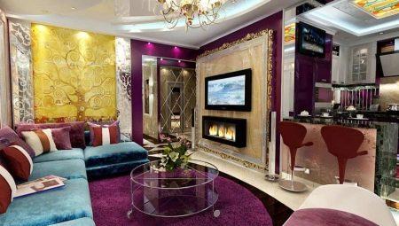 Вітальня арт-деко (47 фото): риси стилю, варіанти дизайну інтер'єру маленької і великої вітальні